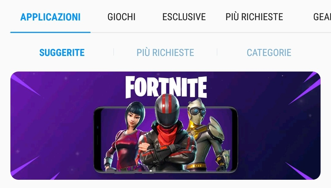 samsung galaxy apps store fortnite android smartphone tablet mobile
